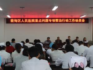 蔡甸区人民医院重点问题专项整治动员会